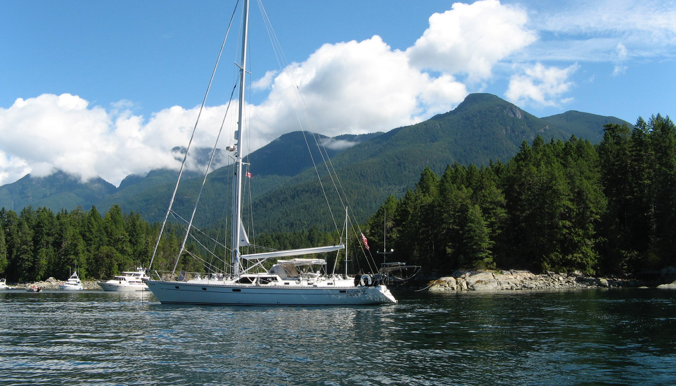 Escapade is an Oyster 55 sailboat, equipped for long-term ...